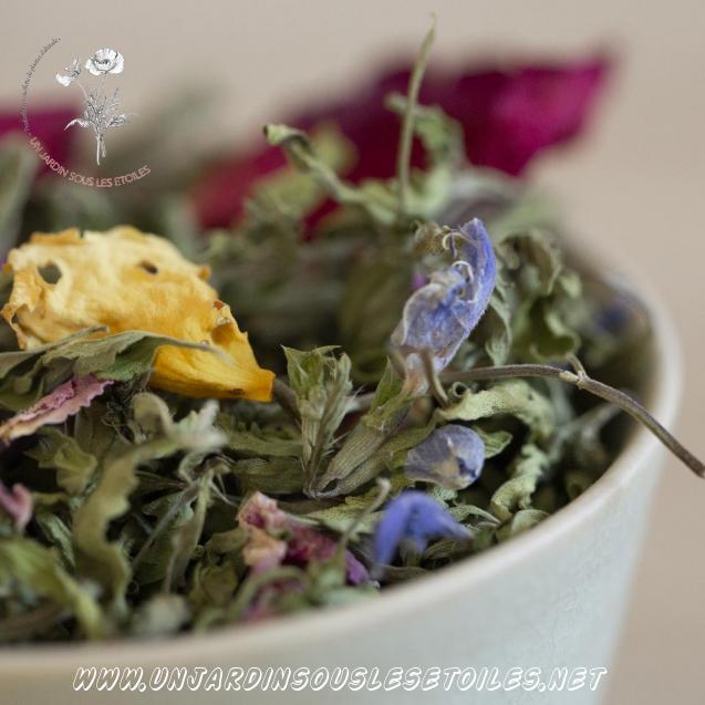 """Tisane """"Thé des jardins à la rose"""" : Tisanes composées Thé des jardins, Rose"""