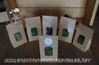 Coffret tisane : Tisanes simples ortie, achillée millefeuille, Hysope, Serpolet, Origan, mauve